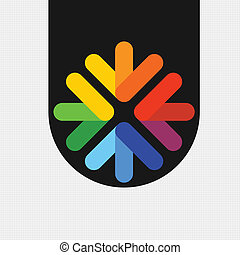multi-colored - EPS of 10 Vector icon, or bookmark in the...