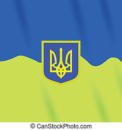 coat of Arms of Ukraine - colorful illustration with Coat of...