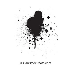 splashed stain drop vector