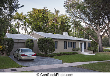 Residential house in Coral Gables, Florida, USA