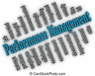 3d imagen Performance Management concept word cloud...
