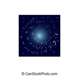 Vector stars spiral galaxy - Vector space view of spiral...