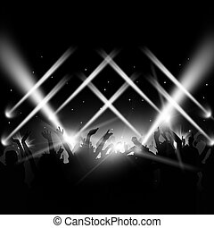 Dance Party Event - music dance party background with...