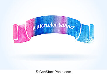 Bright watercolor banner - Abstract watercolor banner for...