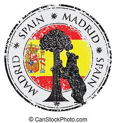 Symbole, Madrid, -, statue, ours