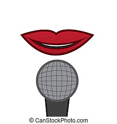 Microphone Isolated Lips