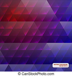 Red-blue abstract background with triangles