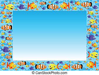 Clip Art Vector of CUTE FISH BACKGROUND csp23167169 - Search ...