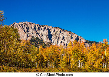 Fall Color in Crested Butte Colorado - Ruby Range mountains...