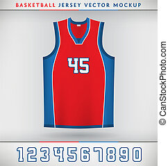 Basketball Jersey - Realistic Vector Mock Up of Basketball...