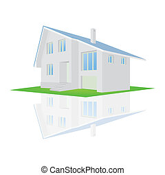 Vector illustration of a house on a