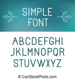 Vector minimalistic font set