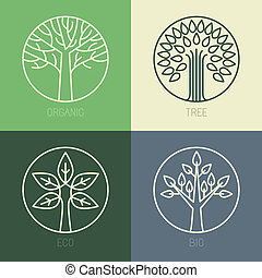 Vector organic badges - outline circle monograms and logos...