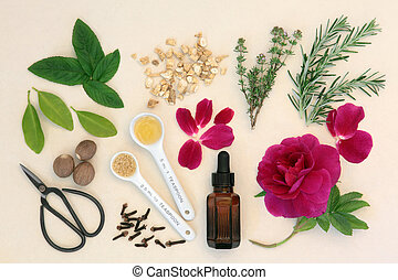 Love Potion Sampler - Love potion ingredients with dropper...