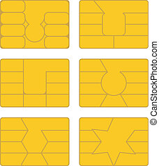 Smart card -  Vector pack of various smart card designs