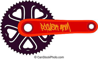 Bike chainring - Vector illustration of a bike chainring...