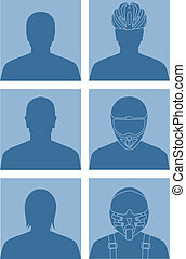No avatar - Vector illustration of various avatars for user...