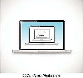 laptop set illustration design