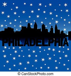 Philadelphia skyline winter