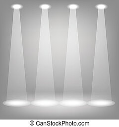 Stage spotlight - illustration with Stage spotlights on a...