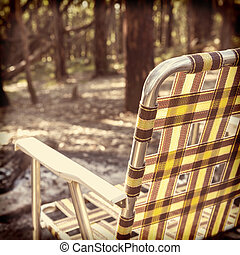 Camping Chair Instagram Style - Retro fold up camping chair...