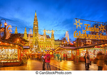 Natal, mercado, Viena