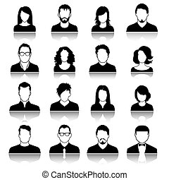 User icons. - Set of web user icons. Vector illustration....