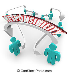 Responsibility Passing Job Task Other People Delegate Work -...
