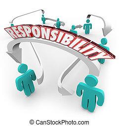 responsabilidade, passagem, trabalho, Tarefa, outro,...