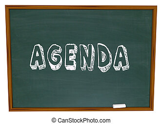 Agenda Schedule Word Chalkboard School Class Lesson...