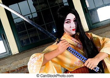 geisha, kimono
