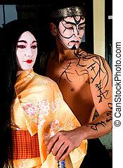 geisha, samurai