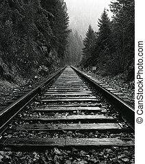 norte, Idaho, tren, pistas