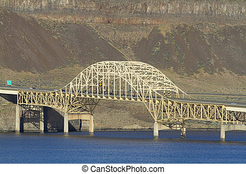Vantage Bridge - I-90 Vantage Bridge over the Columbia River...