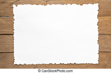 Paper - paper on wood background