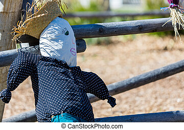 Scarecrow - Handmade scarecrow for Halloween decoration on...