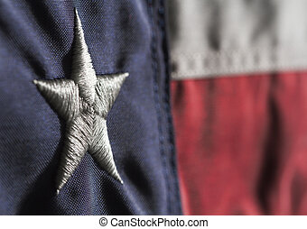Texas State Flag - Close up horizontal shot of Texas state...