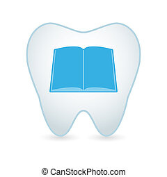 Tooth icon with a book