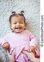 Fun - Portrait of a laughing toddler