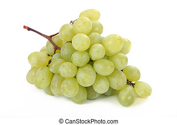 cluster of apetizer green grape on white background