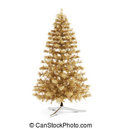3d Christmas tree on white background