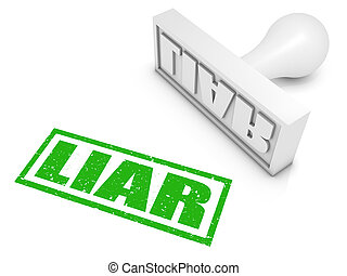 Liar! - Liar rubber stamp. Part of a series of stamp...