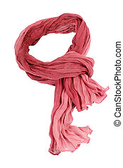 cotton scarf isolated on a background