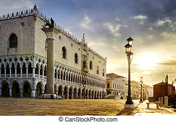 Saint Mark square Venice - Saint Mark square with San...