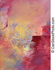 abstract oil painting on canvas - abstract multicolor layer...