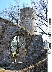 Old ruin in tne South Bohemian - Old ruin Dobronice in tne...