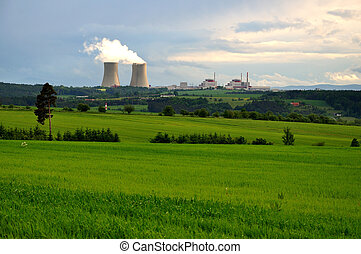 nuclear electric power station - Nuclear electric power...