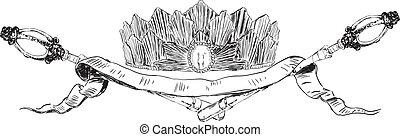 Heraldic symbols of authority