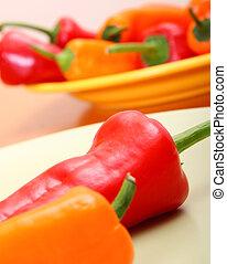 fresco, pimenta, legumes, cozinha