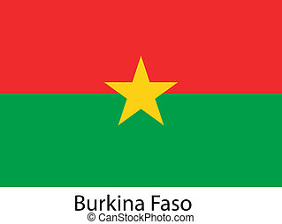 Flag  of the country  burkina faso. Vector illustration.